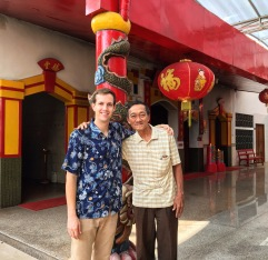 Me and Ong, a friend I met at a Buddhist temple in Kediri