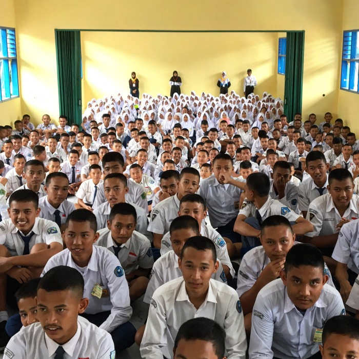 The students seen here are about to enter their first year at an SMK.