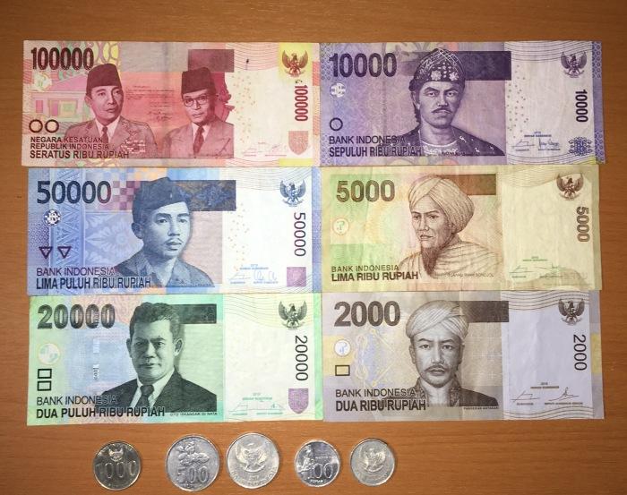 Dollars and cents, rupiah andsen