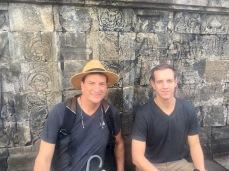 My dad and I at Borobudor