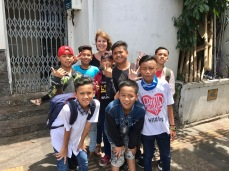 Indonesian kids love to have pictures with foreigners