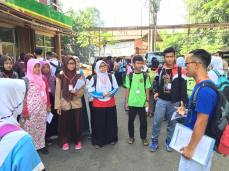 Meeting the kids