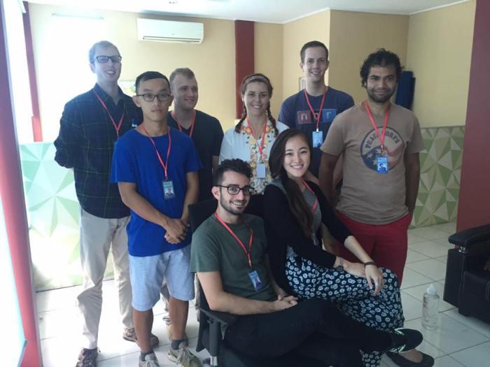 The camp leaders. From left to right Matt, Alex, Noah, Cordell, Michaela, Lisa, Me, Brandon