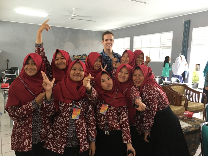 me and some students